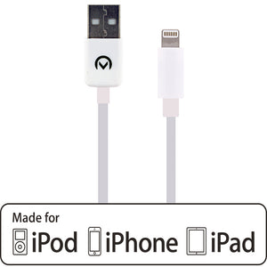 Mobilize Fast Charge/Sync Cable Apple Lightning 1m. White