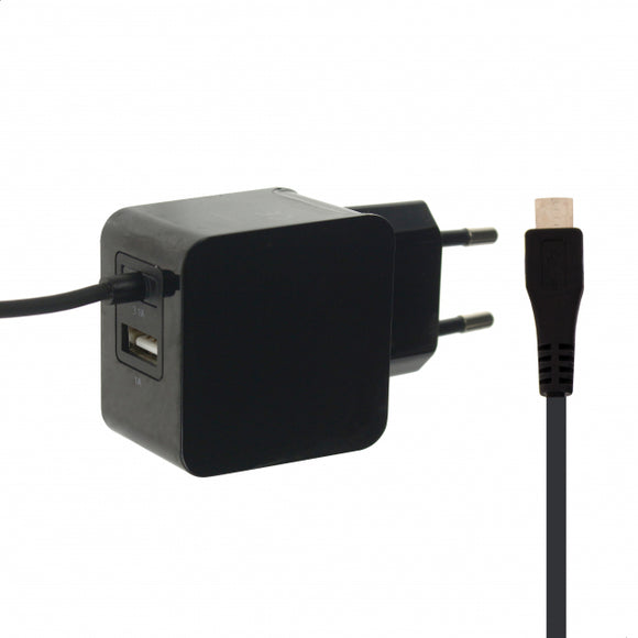 Mobilize Travel Charger Micro USB + USB 3.1A 15W Black