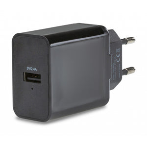 Mobilize Smart Travel Charger Single USB 2.4A Black