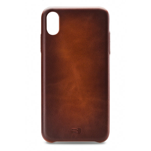 Senza Desire Leather Cover Apple iPhone Xs Max Burned Cognac