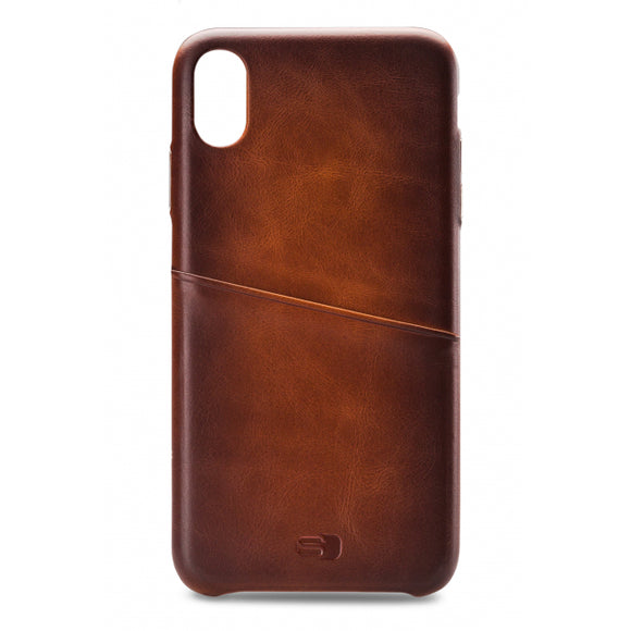 Senza Desire Leather Cover with Card Slot Apple iPhone Xs Max Burned Cognac