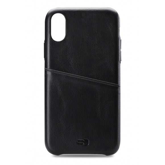 Senza Pure Leather Cover with Card Slot Apple iPhone Xs Max Deep Black