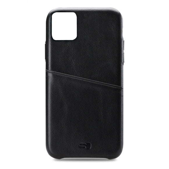 Senza Pure Leather Cover with Card Slot Apple iPhone 11 Deep Black