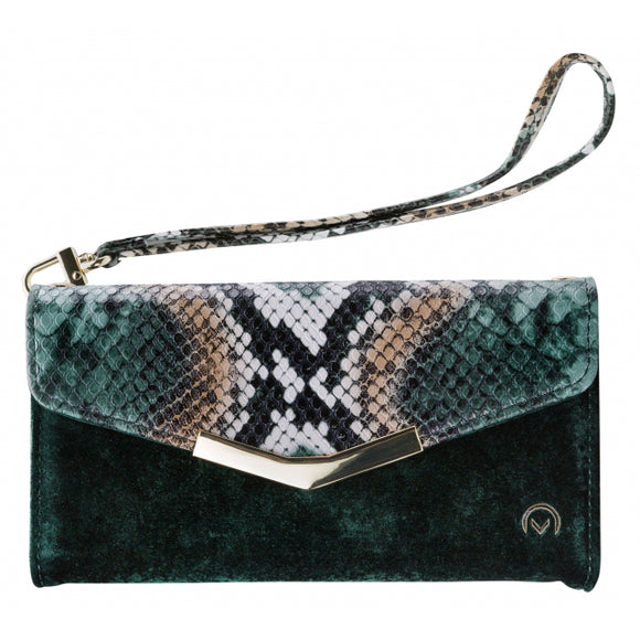 Mobilize 2in1 Gelly Velvet Clutch for Apple iPhone X/Xs Green Snake