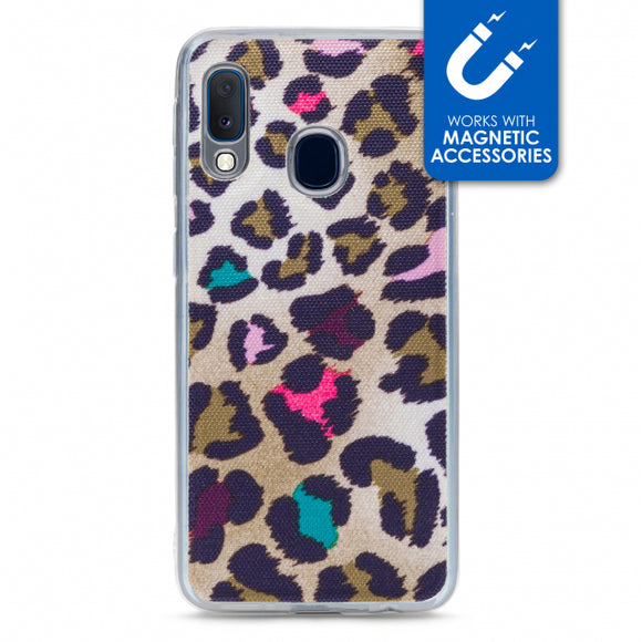 My Style Magneta Case for Samsung Galaxy A20e Colorful Leopard