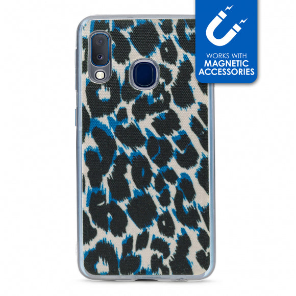 My Style Magneta Case for Samsung Galaxy A20e Blue Leopard