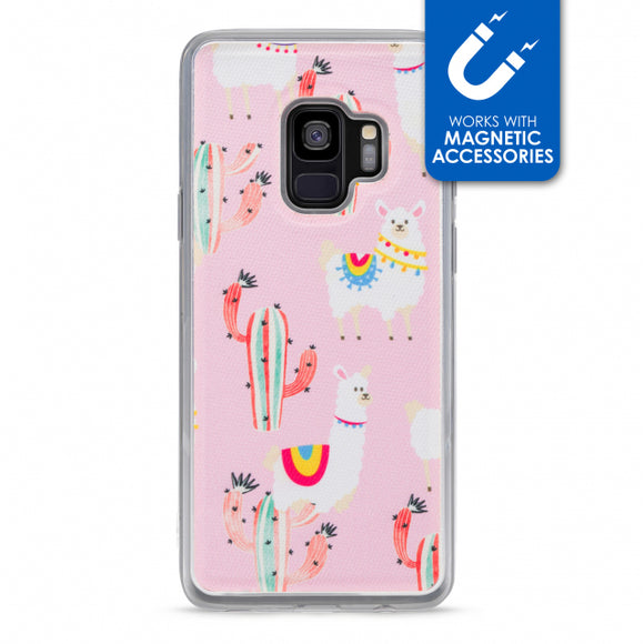 My Style Magneta Case for Samsung Galaxy S9 Pink Alpaca