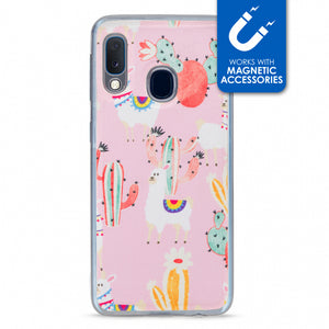 My Style Magneta Case for Samsung Galaxy A20e Pink Alpaca