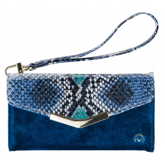 Mobilize 2in1 Gelly Velvet Clutch for Apple iPhone 11 Royal Blue Snake