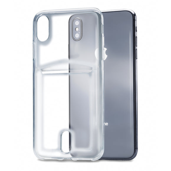 Xccess TPU Card Case Apple iPhone Xs Max Transparent Clear
