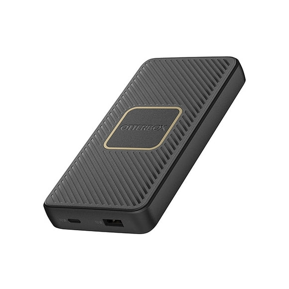 OtterBox Dual Port Fast Charge Power Bank 10000 mAh 18W + Qi Wireless Charger 10W Black