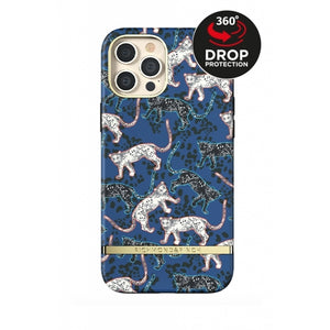 Richmond & Finch Freedom Series One-Piece Apple iPhone 12 Pro Max Blue Leopard