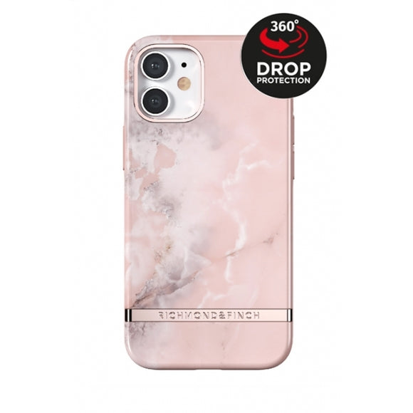 Richmond & Finch Freedom Series One-Piece Apple iPhone 12 Mini Pink Marble