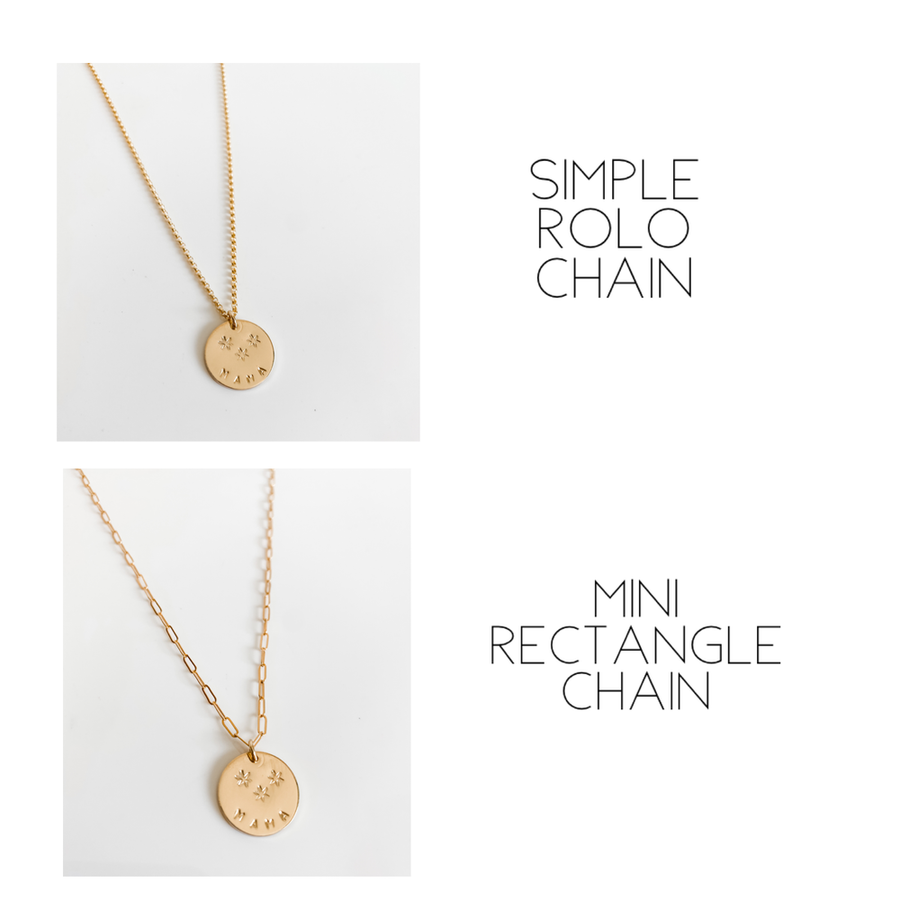 LAYERED DISCS NECKLACE