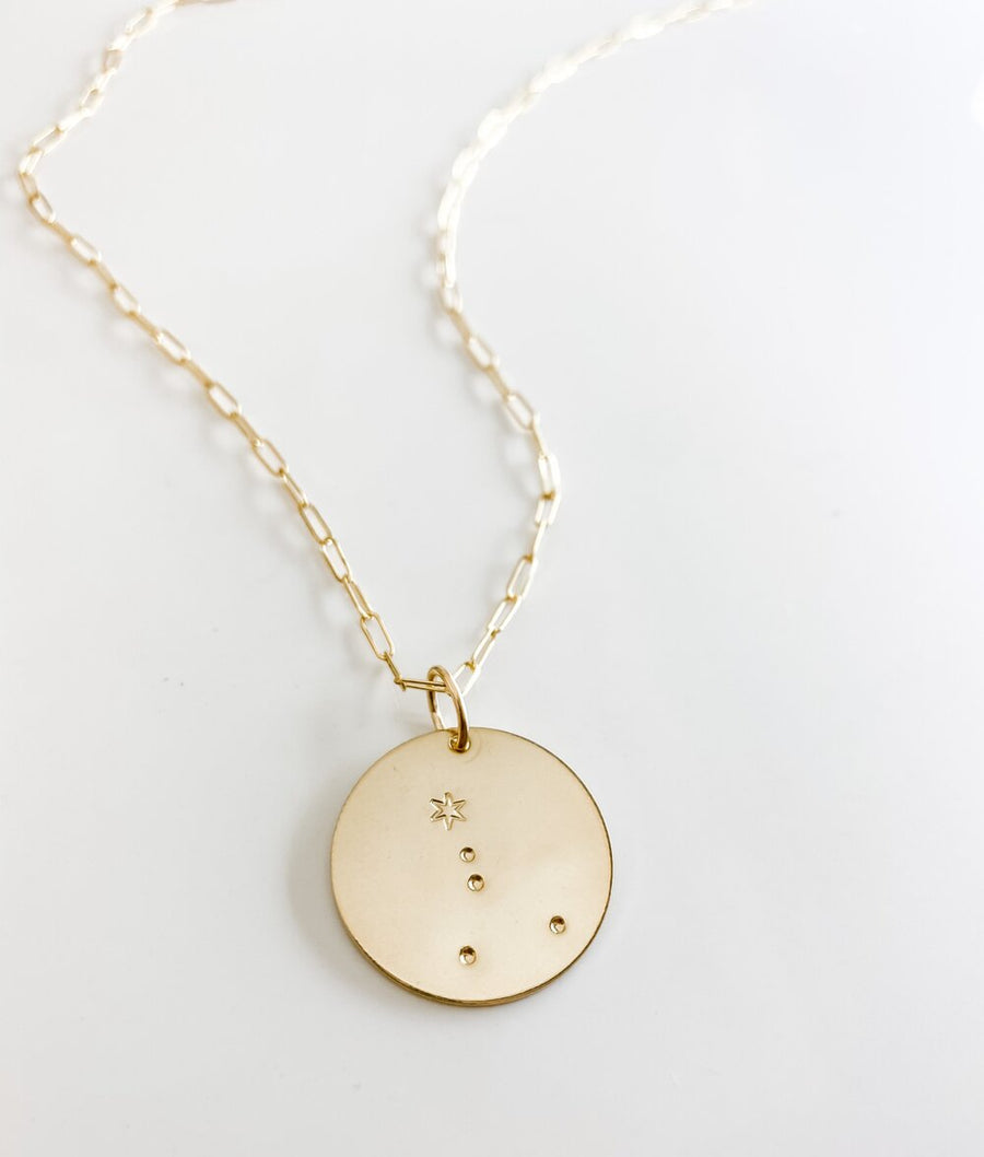 CONSTELLATION LARGE DISC NECKLACE