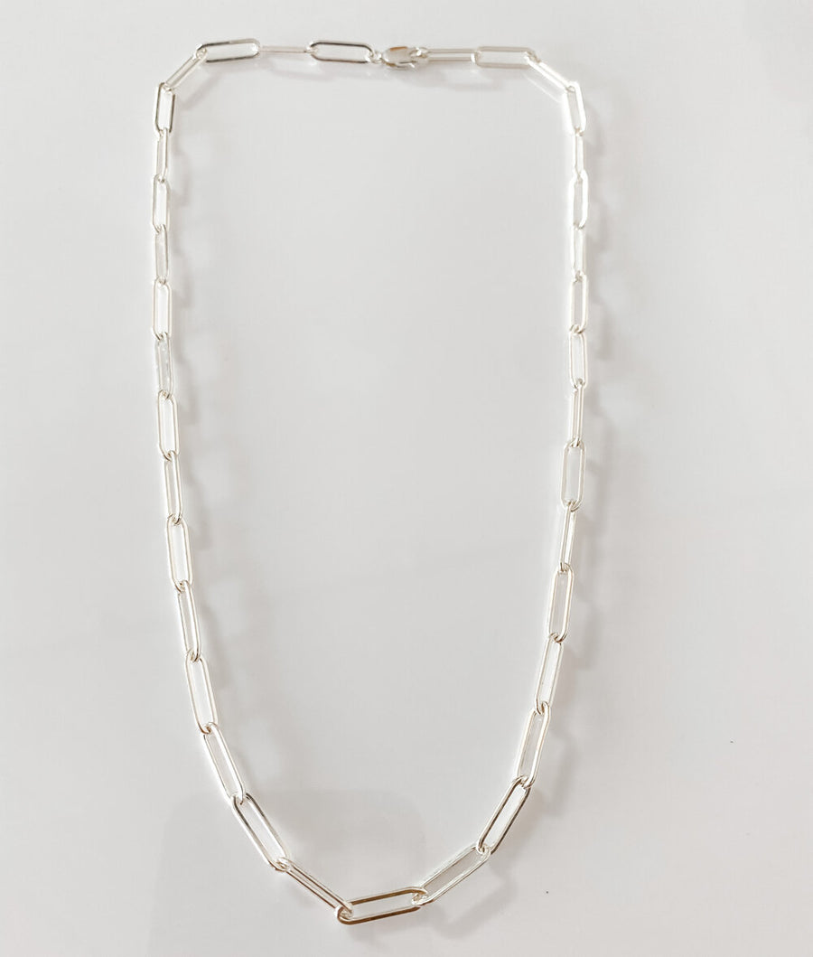 SILVER RILEY THICK CHAIN
