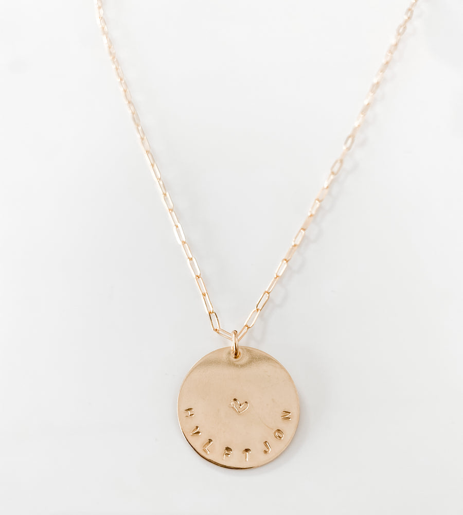 LARGE DISC NECKLACE