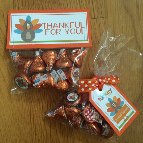 "Hershey Kiss Party Favors - Thanksgiving ""Thankful for You"""
