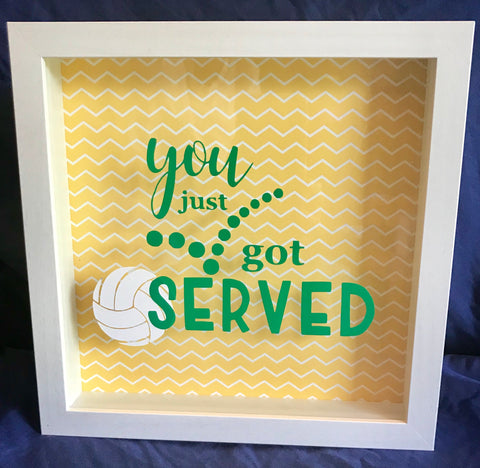 "8x10 Shadowbox ""You Just Got Served"""