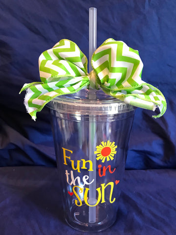 "Acrylic Tumbler - ""Fun in The Sun"""
