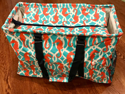 Utility Tote Bag - Sea Horse