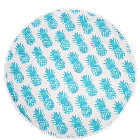 Round Towel/Tapestry - Pineapples