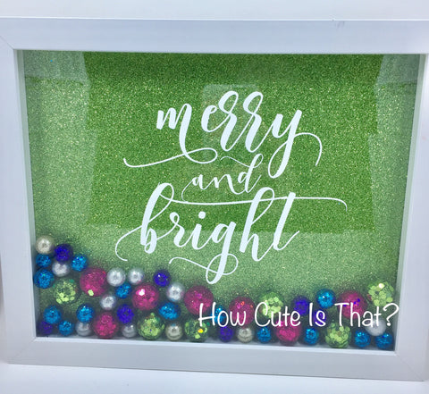 "8 x 10  Shadowbox ""Merry & Bright"""