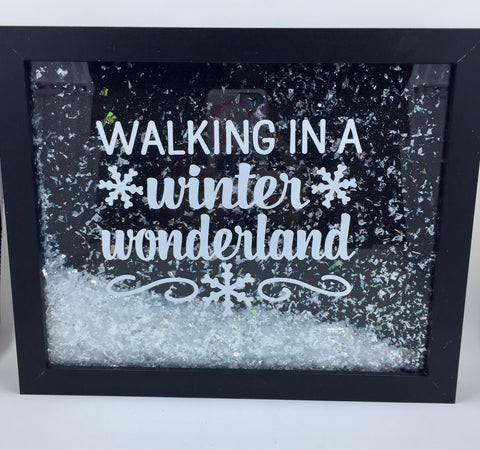 "8 x10 Shadowbox ""Walking In A Winter Wonderland"""