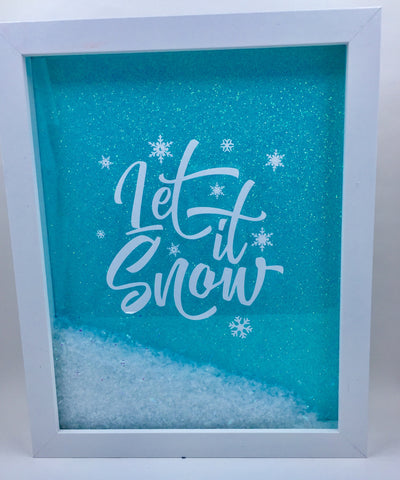 "8 x 10  Shadowbox ""Let It Snow"""