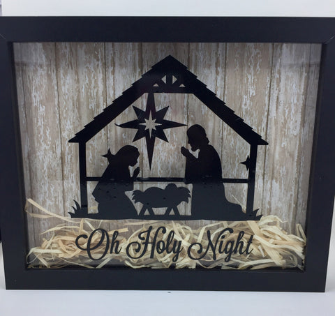 "8 x10 Shadowbox ""Oh Holy Night"""
