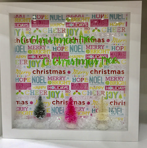 "8 x 10  Shadowbox ""Oh Christmas Tree, Oh Christmas Tree"""