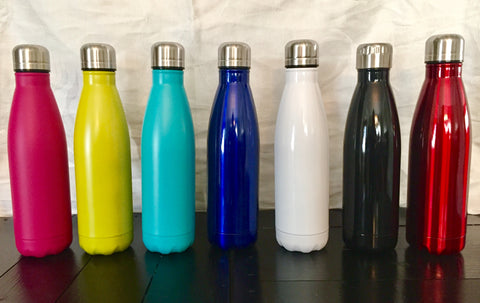 Stainless Steel Water Bottles 17oz - Personalized