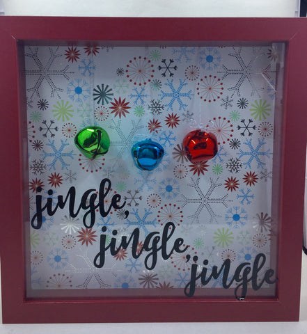 "8 x 8  Shadowbox ""Jingle Jingle Jingle"""