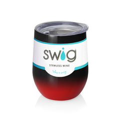 Swig Ombre stemless wine cup 9-12 oz - Multiple color combinations