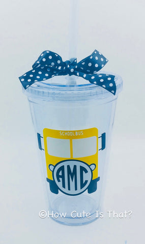 Acrylic Tumbler - Personalized School Bus Driver