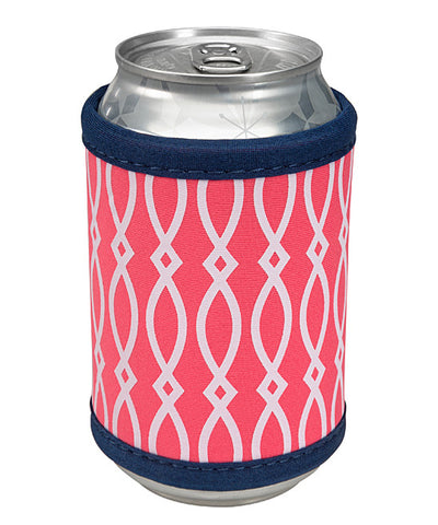 Can Koozie - Neoprene - Geometric Coral Design - Occasionally Made