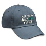 Jeep Hair Don't Care hat - trucker & twill styles