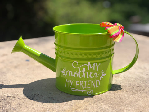 "Mother's Day Watering Can ""My mother, my friend"""