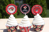 Pirate Cupcake Wrappers and Toppers