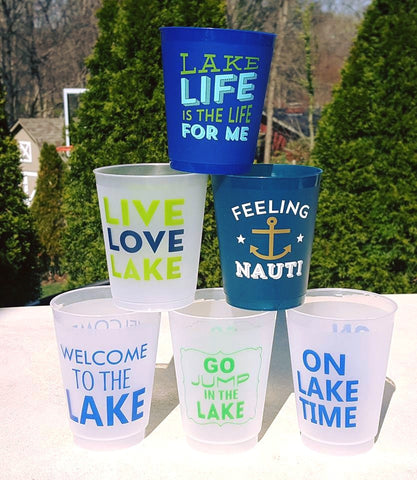 16oz Flex Cups - Lake Theme