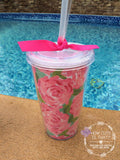 "Acrylic Tumbler - ""Lilly"" Inspired & Personalized"
