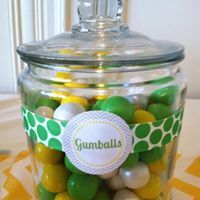 Gumball Jars for display