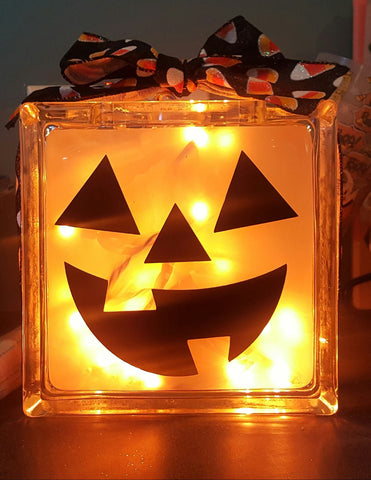 Pumpkin Glass block Light