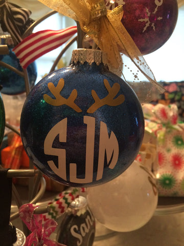 Ornaments - Monogram Reindeer