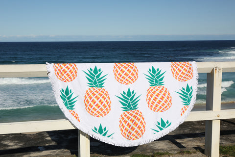 Round Towel - Pineapples