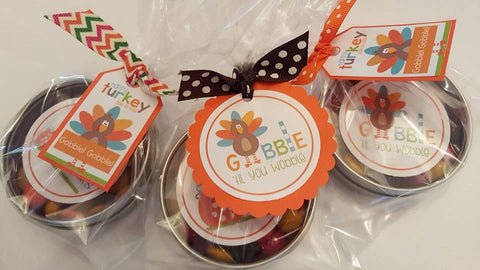 M&M Circle Tins - Thanksgiving