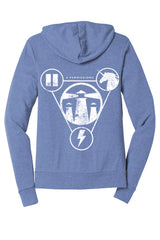 The 4 Permissions Hoodie - Blue / White Unisex