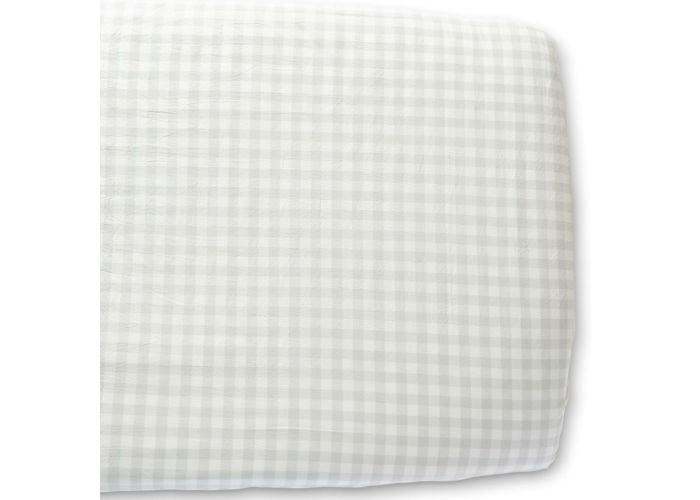 Crib Sheet - Fog Grey Checked