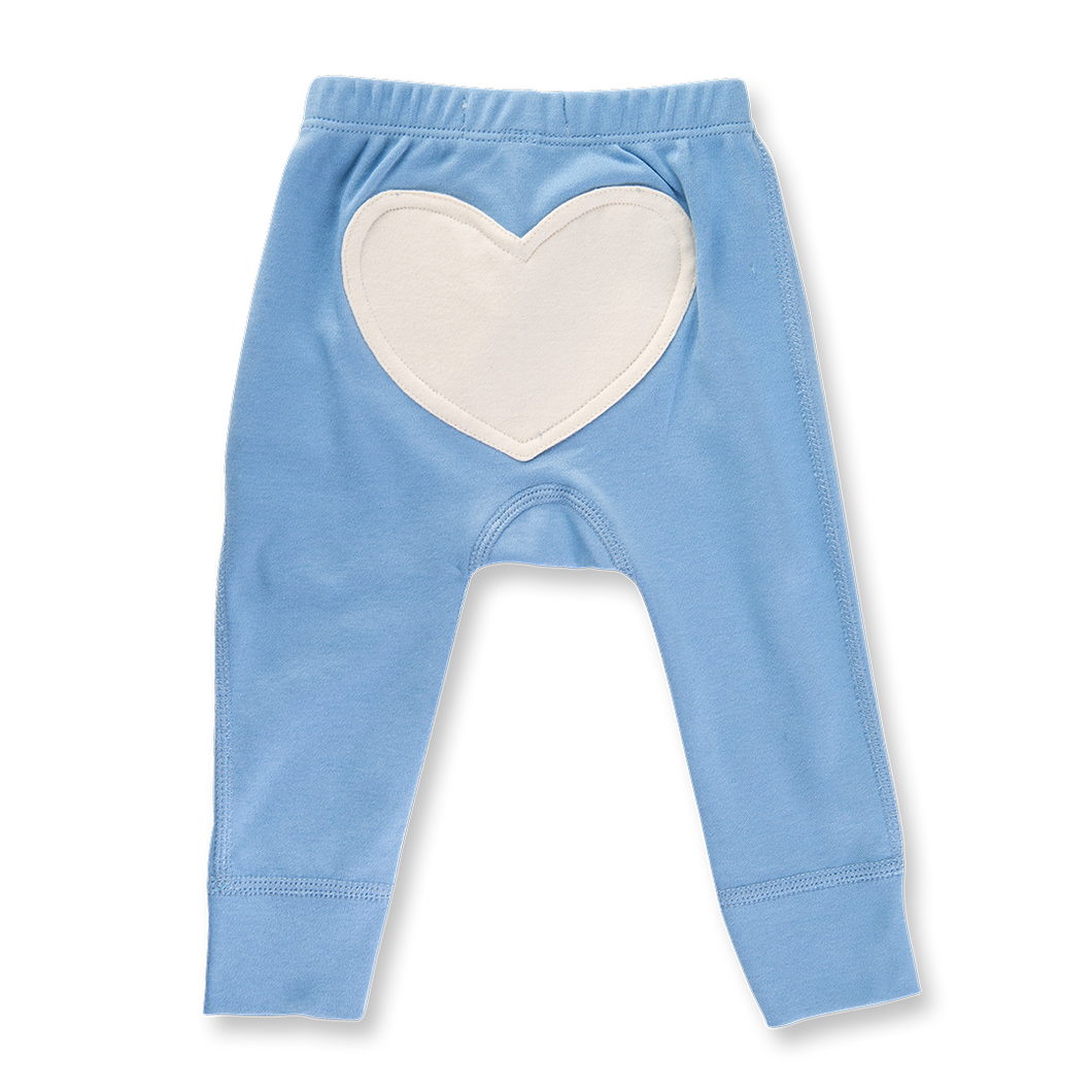 Heart Pants - Little Boy Blue