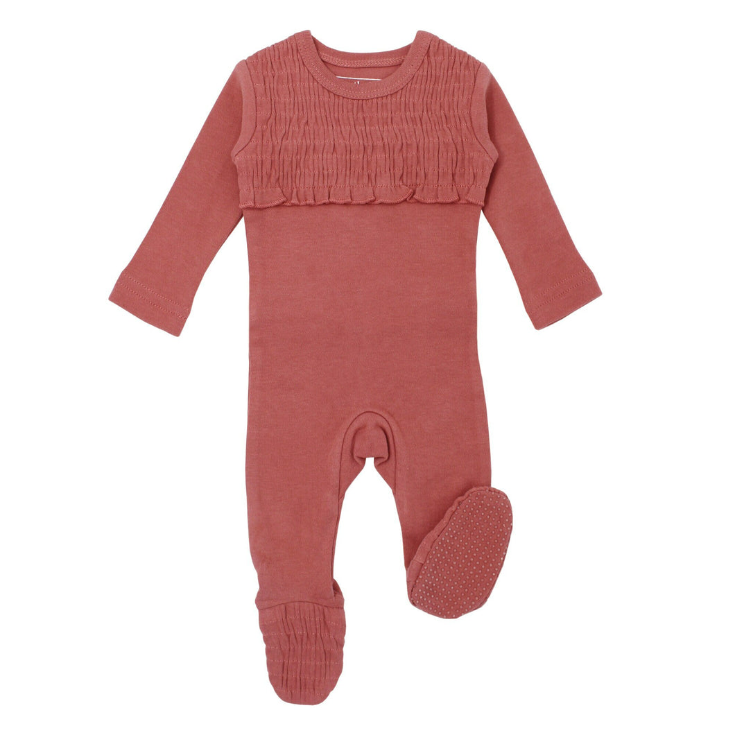 L'oved Baby Sleeper - Smocked Footie Sienna